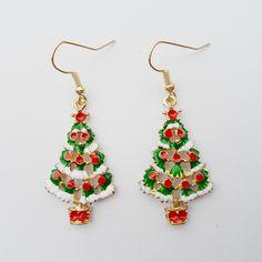 {2016 Celebrating Christmas,  new women's Christmas earrings ,Pendant Christmas tree earrings for girls new year gifts.