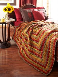 Catherine Wheel Blanket | Yarn | Knitting Patterns | Crochet Patterns | Yarnspirations