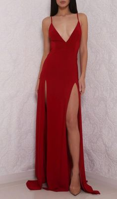 Hot Sexy V-Neck Prom Dress, Cheap Spaghetti Straps
