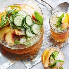 Peach Pimm's Punch
