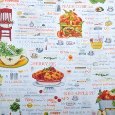 Robert Kaufman - Kiss The Cook Kiss The Cook, Robert Kaufman, Stuffed Green Peppers, Hot Sauce, Fabrics, Peach, Baking, Stuff Green Peppers, Tejidos