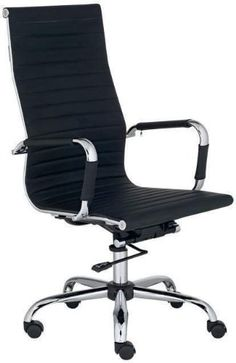 Best Deal Depot High Back Modern Upholstered Leather Executive Office Desk Chair Black
