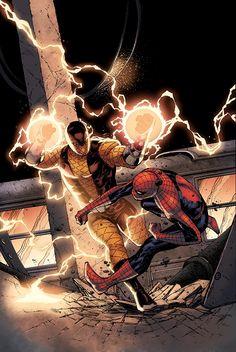 Spider-Man vs the Shocker (Marvel Comics)