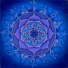 Blue Mandala. Artist could not be traced.