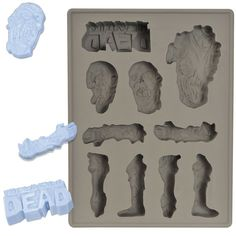 Buy The Walking Dead - Ice Cube Silicone Tray online and save! When you've been decapitating zombies in the hot sun all day, what could be more useful and appropriate than this The Walking Dead Ice Cube Silicone T. Walking Dead Comic Book, Walking Dead Zombies, The Walking Dead 3, Bloody Mary, Silicone Ice Trays, Zombie Attack, Ice Molds, Candy Molds, Soap Molds
