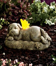 Pet Memorial Ideas For The Garden image of pet memorial garden stones Solar Pet Memorial Garden Statues
