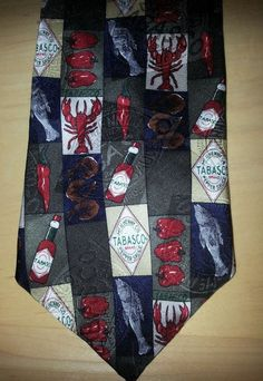 Tabasco Lobster Fish crawfish 100% Silk Necktie Tie Made in USA in Clothing, Shoes & Accessories, Men's Accessories, Ties | eBay