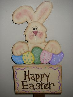 Happy Easter Yard Sign by SandysPaintinPlace on Etsy, $10.00