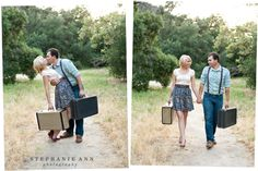 """so cute for a """"Save The Date"""" photo for a destination wedding!"""