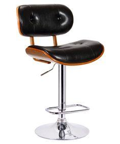 Boraam Smuk Adjustable Swivel Bar Stool - Bar Stools at Hayneedle Barber Chair, Bar Stools, Kitchen Dining, Black, Furniture, Home Decor, Homemade Home Decor, Kitchen Dining Living, Black People