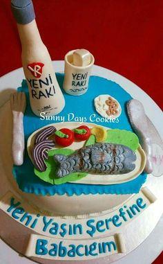 Rakı balık pastası, eat Cake, fish cake,