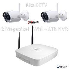 Kit Dahua Profesional WIFI 2 Megapixel Disco 1 TB Sin cables