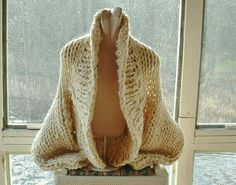 Chunky shrug jacket sweater