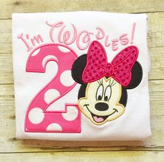 Minnie Mouse Second Birthday Shirt - Twodles - Oh Toodles - Minnie Mouse 2nd Birthday
