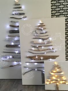 Canvas mounted Driftwood Christmas tree on canvas, adorned with battery fairy lights.I collect the Driftwood from my local beaches whilst walking my dog Buster. Perfect for Christmas, or can be hung all year round adorned with birds, photos etc. Why not adorn with baubles for Christmas, hearts for Valentines, eggs for Easter, use your imagination and await the compliments and interest of your piece of artwork.Created using Driftwood sourced from my local beaches in Bournemouth Canvas painted…