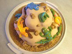 Reptile Birthday cake. Aligator Cake, 7th Birthday, Birthday Cake, Snake Cakes, Reptile Party, Cakes And More, Cupcakes, Pudding, Desserts