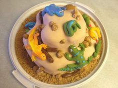 Reptile Birthday cake.