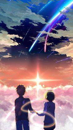kimi no na wa Your Name Wallpaper, Cute Anime Wallpaper, Scenery Wallpaper, Your Name Movie, Your Name Anime, Otaku Anime, Anime Art, Kimi No Na Wa Wallpaper, Couples Anime