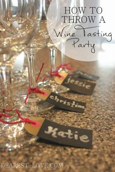 Last weekend, I had a few friends over to partake in a little wine tasting party! I've never thrown a wine-tasting party until now, but it's been . Wine Tasting Events, Wine Tasting Party, Wine Parties, Cocktail Parties, Wine Party Foods, Wine Tasting Glasses, Tequila Tasting, Wine And Cheese Party, Wine Cheese