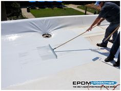 This is a custom color for a square foot roof on a school. Liquid EPDM can be custom colored for any order over 4000 square feet. Liquid Roof, Epdm Roofing, Roof Sealant, Roof Coating, Rv Garage, Commercial Roofing, Roof Types, Roofing Systems, Roofing Contractors