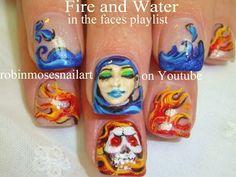 Fire and Water Beauties Nail Art  - popculturez.com