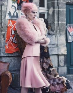Couture Clash  Photo by Craig McDean, styled by Edward Enninful; W Magazine September 2013.