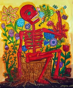 """My coloring of """"Day of the Dead"""" book by Sarah Walsh"""