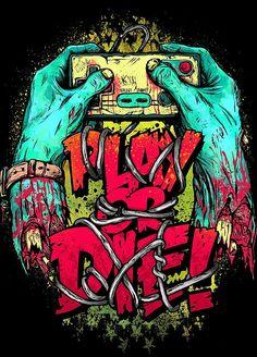 Graffiti, Street Art, Extreme Sports, music and more. Arte Zombie, Zombie Art, Art Pop, Graffiti Art, Image Nice, T Shirt Art, Dessin Old School, Drawn Art, Dope Art