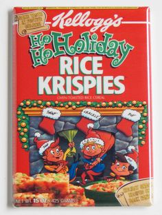 Christmas Holiday Rice Krispies FRIDGE MAGNET (2.5 x 3.5 inches) cereal box   Collectibles, Kitchen & Home, Magnets   eBay!