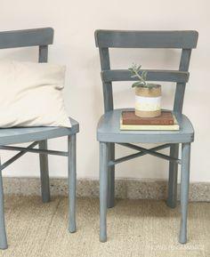 Silla Reciclada En Decoupage Para Comedor O Dormitorios