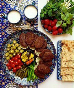 Persian Kotlet – Very Scrumptious Persian cuisine. Iranian Dishes, Iranian Cuisine, Kurdish Food, Iran Food, Food Decoration, Middle Eastern Recipes, Arabic Food, Food Presentation, Food Design