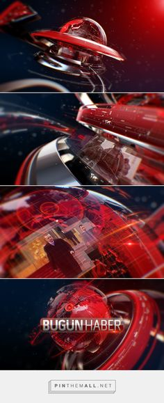 BUGUN TV - NEWS OPENER on Behance... - a grouped images picture - Pin Them All