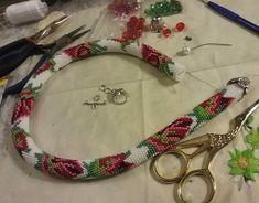 Схемы жгутов-2 Crochet Beaded Necklace, Bead Crochet Rope, Beaded Crochet, Bead Weaving, Personalized Items, Beads, Bracelets, Crafts, Jewelry