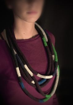 five snake sleep on my shoulders - multi wrap necklace made by franciesca; on etsy