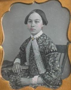 Daguerreotype Young Woman Original Seals   eBay