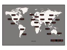 Karlsson KA4371 Orologio da Muro Led Worldwide EURO 103,00