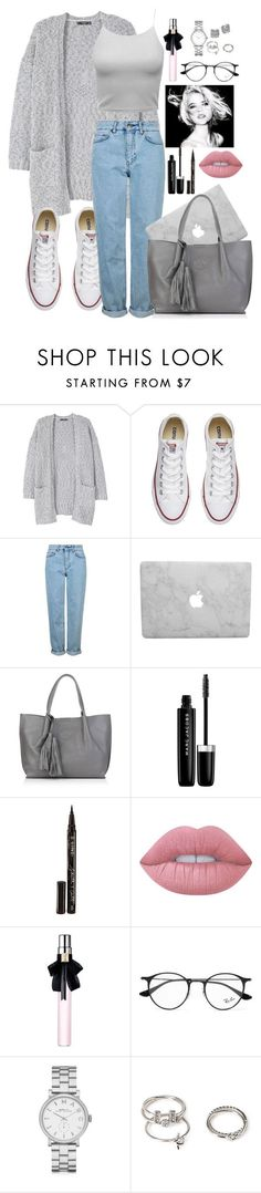 uni day by penguinx14 on Polyvore featuring Mode, MANGO, Topshop, Converse, Nadia Minkoff, Marc by Marc Jacobs, Kate Spade, Forever 21, Ray-Ban and Lime Crime