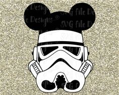 Star Wars Storm Trooper Mickey Mouse Ears Disney by SVGFileDesigns