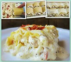 Made this. It was awesome!  http://myfridgefood.com/recipes/appetizer/chicken-bacon-lasanga-rolls/