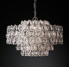 Liscia Chandelier Polished Nickel | RH Modern