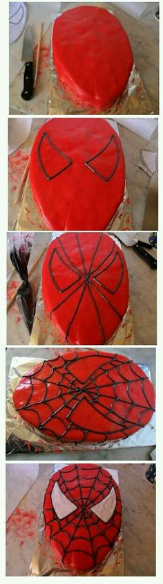 If you are planning a spiderman party here is a collection of spiderman cake ideas to help. Superhero Cake, Superhero Birthday Party, Boy Birthday Parties, Cake Birthday, Birthday Boys, Spiderman Birthday Cake, Birthday Ideas, Dessert Party, Snacks Für Party