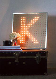 Miss Kris Light Letter Glitter N Glue DIY