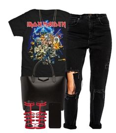 IRON • MAIDEN by queenbrittani on Polyvore featuring polyvore fashion style ASOS Giuseppe Zanotti Givenchy Forever 21 clothing