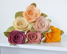 Hey, I found this really awesome Etsy listing at https://www.etsy.com/listing/196086839/felt-rose-flowers-for-the-home-wedding
