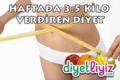 Dr. Ayça Kara'nın haftada 3.5 kilo verdiren süper diyet programı sayesinde 1 haftada 3.5 kilo kadar zayıflamanız mümkün !