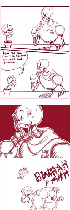 Omg Flowey I hate you now XD well he likes the feeling in his mouth idk
