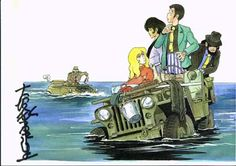 Comic Kunst, Comic Art, Lupin The Third, Another Anime, Car Drawings, Me Me Me Anime, Samurai, Fan Art, Cartoon