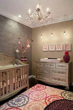 I like the silver crib and dresser.