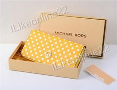 Michael Kors Leather Wallet for Samsung Galaxy Note 2 & 3 With Golden Box Yellow Galaxy Note, Leather Wallet, Decorative Boxes, Samsung Galaxy, Michael Kors, Amp, Yellow, Stuff To Buy, Decorative Storage Boxes