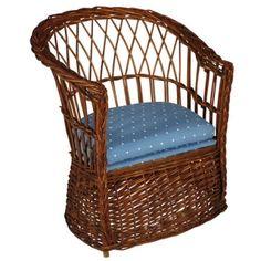 19th Century Wicker Children's Potty Chair